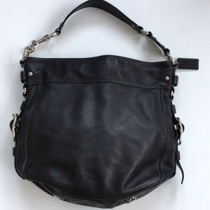 Like New Coach Black Leather Bag